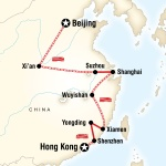 Beijing to Hong Kong–Fujian Route