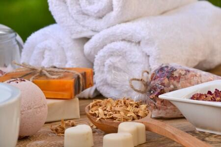 spa, soap, candle, towel, relax