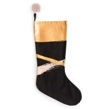 Brush Stroke Stocking - Black