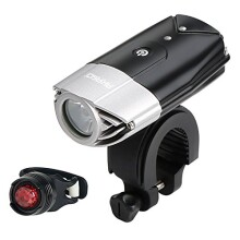 AKASO USB Rechargeable Bike Light Set, Bicycle Lights Front and Back, Waterproof 700 Lumen Headlight, Free Taillight, Handlebar and Helmet Mount Included