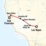 Yosemite Park & Napa Valley – San Francisco to Vegas