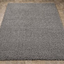 "Sweet Home Stores Cozy Shag Collection Solid Shag Rug Contemporary Living & Bedroom Soft Shaggy Area Rug, 3'3"" L x 4'7"" W, Grey"