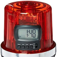 NHL League Logo The Goal Light Alarm Clock, Small, Black