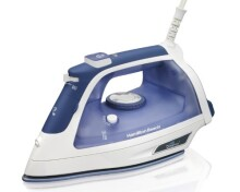 Hamilton Beach Steam Iron with 3-Way Auto Shutoff & Durathon Soleplate (19800)